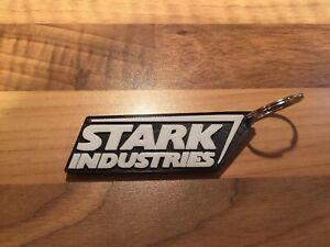 Stark-Industries-Tony-Iron-Man-Keyring-Keychain-Fob-Key-Ring-Chain
