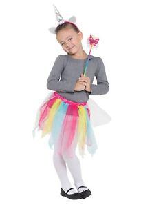 MéThodique Rainbow Unicorn Tutu/hband + Baguette Set, Fantaisie, Robe Fantaisie-afficher Le Titre D'origine Avoir à La Fois La Qualité De TéNacité Et De Dureté