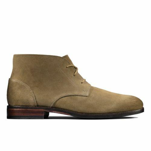 NEW Clarks FLOW TOP Mens Chukka Boots in Dark Sand Suede - Size 12 UK
