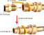 """Natural Gas Hose 12Ft 1//2/"""" ID Gas Line With Quick Connect Disconnect Fittings"""