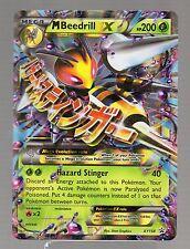 Pokemon Holo Foil JUMBO OVERSIZE BEEDRILL EX Card 200 HP XY158 PROMO