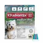 Bayer K9 Advantix II Flea and Tick Control Treatment 11 to 20 Lbs for Dogs 4pack