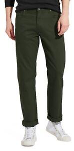 685f9c3f Wrangler Texas Stretch Jeans Mens Moss Green Regular Soft Fabric TA ...