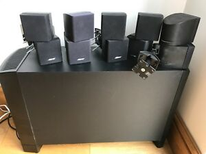 bose black acoustimass 10 series iii 5 1 home cinema cube. Black Bedroom Furniture Sets. Home Design Ideas
