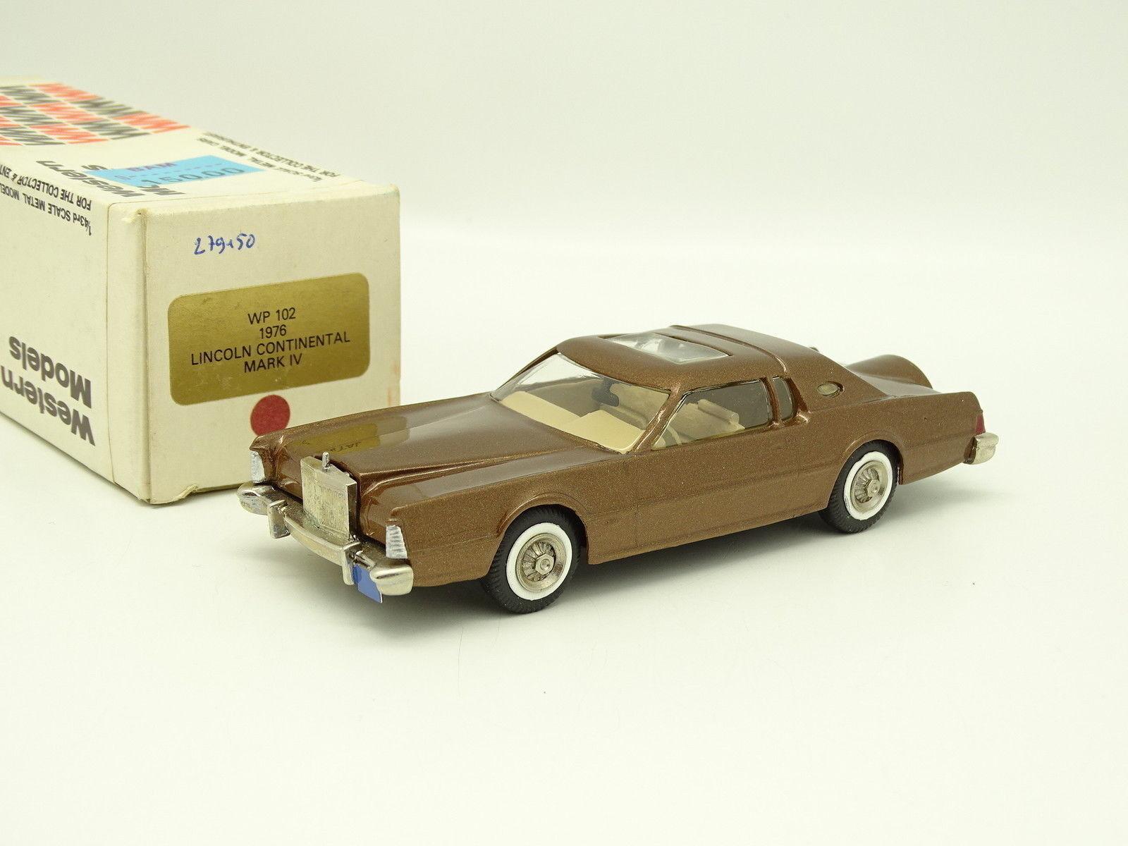 Oeste modelos 1   43 - lincoln continental mark iv Gold 1976