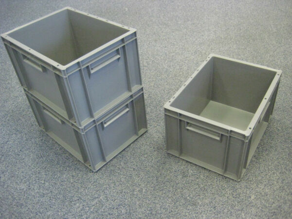 10 New Grey Removal Storage Crate Box Container 20l