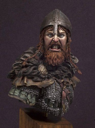 Andrea Miniatures Viking Fury 1 10th Bust Unpainted Resin Kit