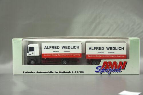 "AMW RENAULT semi-remorque camion /""Alfred Wedlich/"" 70439 1:87//h0 neuf dans sa boîte nos AWM"