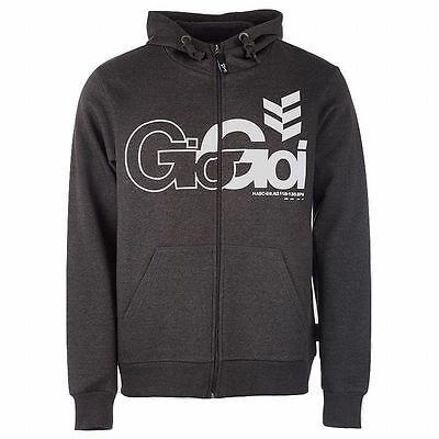 Gio Goi Men's Lancer Full Zip Hoody Hoodie Charcoal