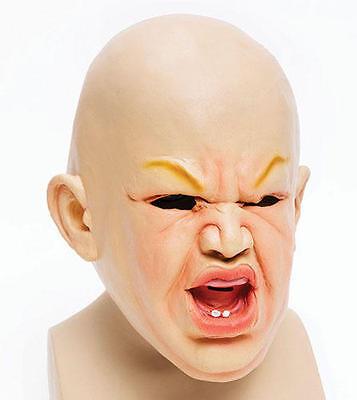 Scary Baby Rubber Mask Halloween Chucky Fancy Dress