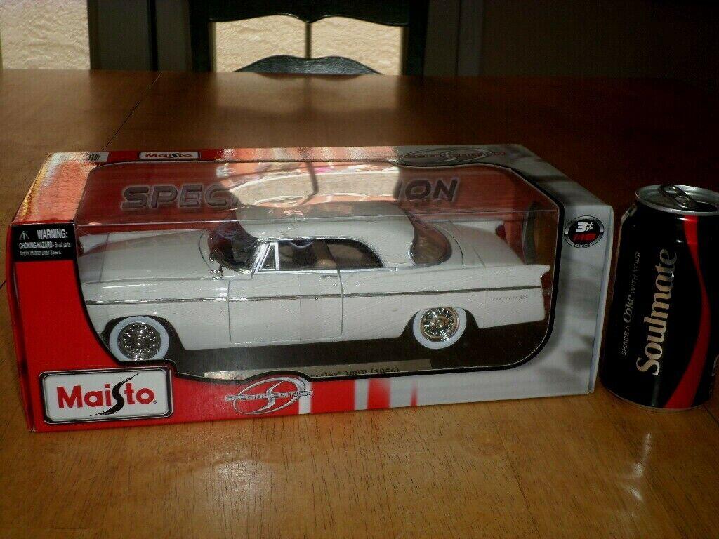 1956 CHRYSLER 300B, [ MAISTO ] DIE CAST METAL BODY FACTORY CAR TOY, Scale  1 18