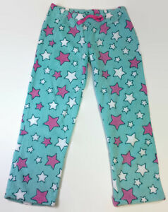 Blue-Stars-Coral-Fleece-Pajama-Pants-for-Women-Soft-Plush-Lounge-Pants