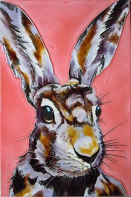 Hare Modern Art Decorative Ceramic Picture Art Tile Farm Kitchen Wall 8x12 05208