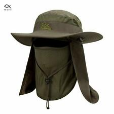 Work Product Protection Fishing For >> Fishing Farmer Wide Brim Cap Neck Face Flap Outdoor Work Sun Protection Hat Men