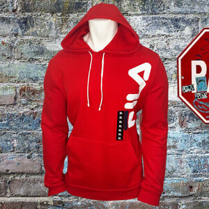 NWT-FILA-AUTHENTIC-MEN-039-S-RED-LONG-SLEEVE-PULL-ON-HOODIE-SWEATSHIRT-SIZE-XL