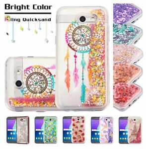 more photos c790c cff5d Samsung GALAXY J7 Prime Bling Hybrid Liquid Glitter Rubber Silicone ...