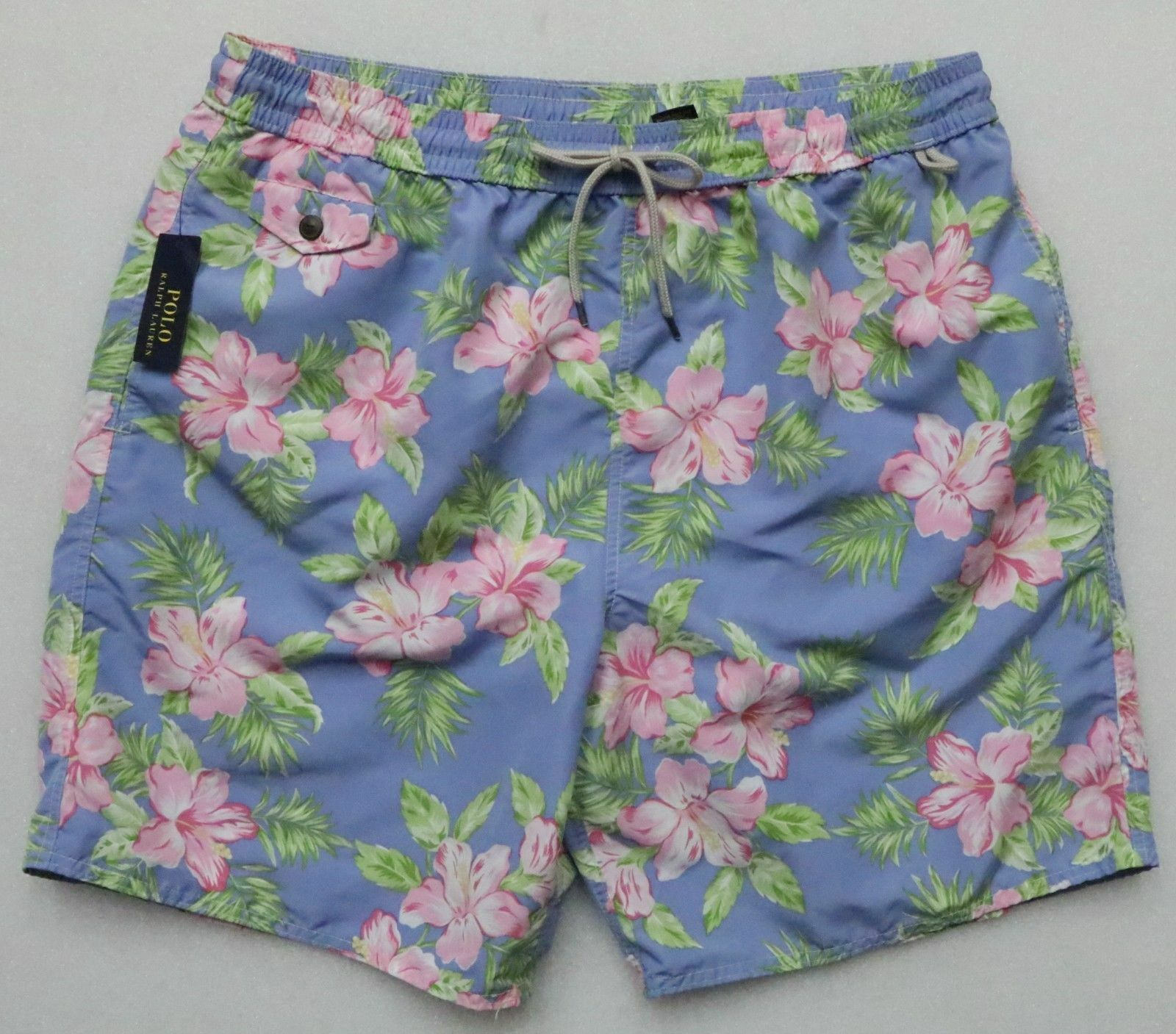 POLO RALPH LAUREN CLASSICS MEN'S 2XB SWIM TRUNKS SUIT SWIMMING PASTEL HIBISCUS