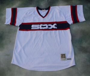 03271fe69 Image is loading Vintage-Mitchell-amp-Ness-1985-MLB-Chicago-White-