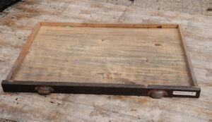 riesige-alte-Schublade-94x69cm-original-aus-Druckerei-Holz-vintage-shabby-retro