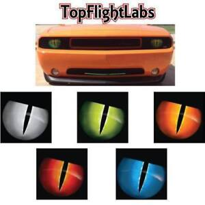 2008-2014-Dodge-Challenger-8-034-Headlight-Overlays-Jason-Brozak-2-0-Snake-eyes