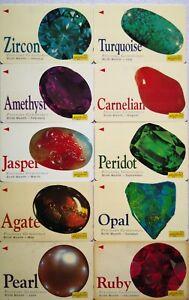 Malaysia Used Phone Cards - 10 pcs Precious Gemstones