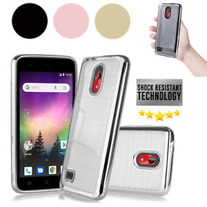 Details about For Coolpad Illumina 3310A [Boost] Aluminum Brush Chrome  Protective Slim Case