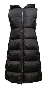 PRADA-SPORT-BLACK-LONG-DOWN-PUFFER-VEST-40-1100