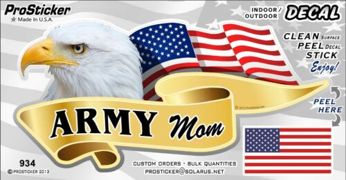 One American Flag Army Mom Eagle Decal Sticker ProSticker 934V