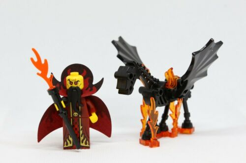 NEW Lego Minifig THESTRAL WINGED SKELETON HORSE W Fire Castle Wings Evil Wizard