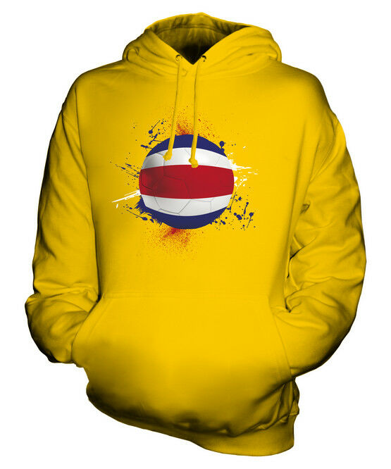 COSTA RICA FOOTBALL UNISEX HOODIE TOP GIFT WORLD CUP SPORT