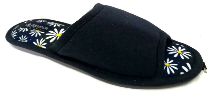 De Fonseca Ciabatte Pantofole Donna Cotone Mod. Bari Top W510 Blu Slippers