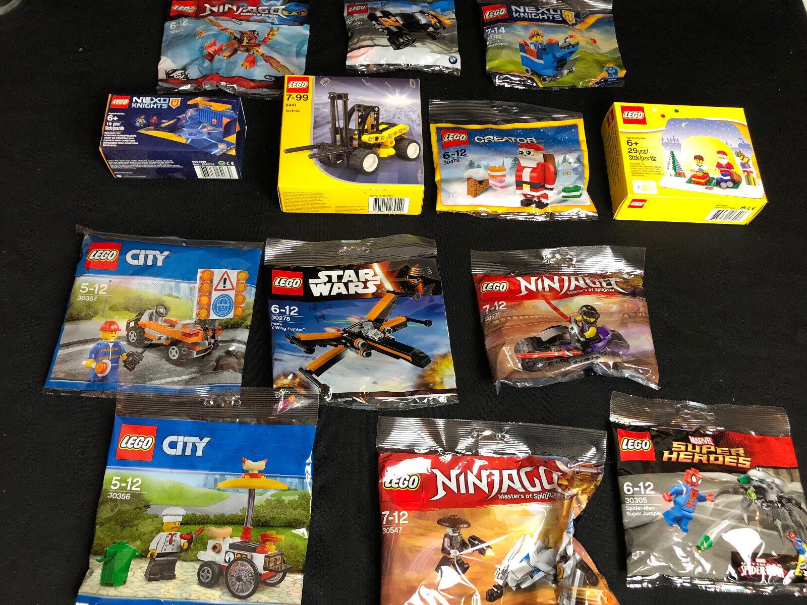 Lego 13 ENSEMBLES weihnachtssets Christmas pour calendrier de l'avent ninjago star wars NEW