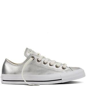 CONVERSE Chuck Taylor All Star Metallic Leather EU 43 sneakers pelle argento