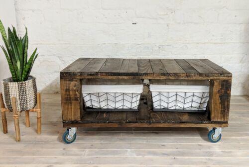 Boho Distressed Design, Reclaimed Pallet Coffee Table AHVIMA in Roast Coffee