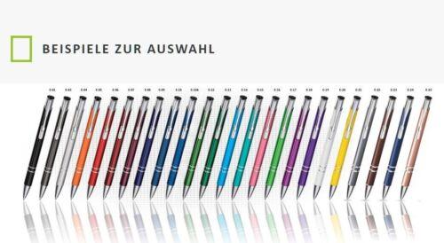 50 Stück Set Metall kugelschreiber Wunschgravur Lasergravur Gratis