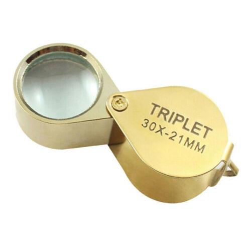 Triplet Jewelers Eye Loupe Magnifier Magnifying Glass Jewelry Diamond 30x21mm