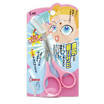 [KAI] Eyebrow Scissors With Comb For Right Handed People Made in Japan