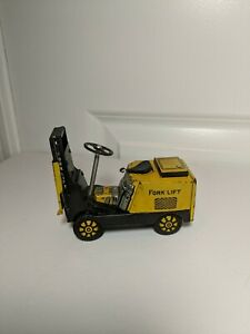 Antique-Tin-Litho-Japan-Mar-Line-Toy-Forklift-Friction-Tin-Toy