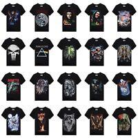 Fashion Men Rock 3D Printed Club Short Sleeve Cotton Casual T-shirt Tops Tee 3XL