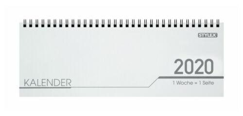 Ferien Telefon Notizen Seite Schreibtisch Quer Kalender 2020-32 Bl - 1 Wo