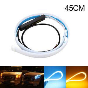 2X-45cm-flexibler-Auto-LED-Streifen-DRL-Tagfahrlicht-Blinker-Licht-Lampe-Leuchte