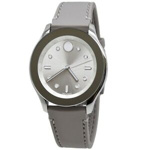 Movado-Bold-Women-039-s-Silver-Dial-Silicone-Strap-Watch-3600412