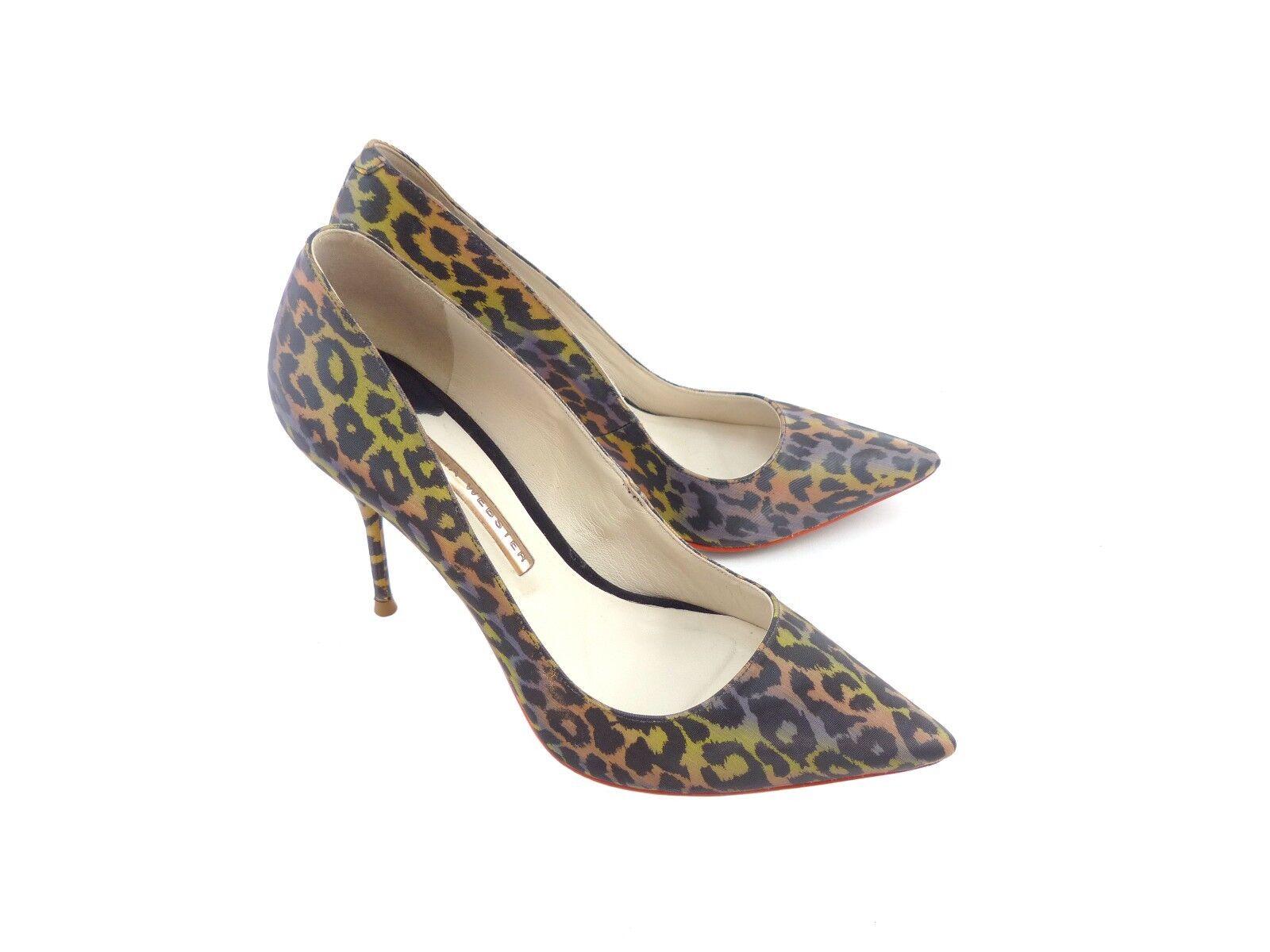 Sophia Webster 'Lola' Arco Iris Holográfico leopardo de impresión - - - 23% APAGADO PVP con textura  entrega gratis
