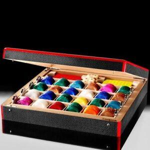 Ferrari Carbon Fiber Games Box Poker Set Ebay