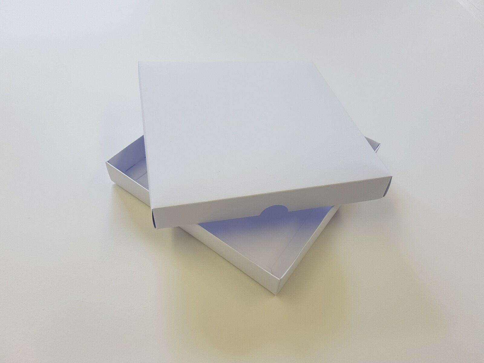 100 5 X5  Greeting Card Boxes, Gift Boxes Weiß Boxboard, Free Delivery