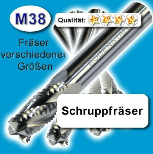 6mm Schrupp-Fräser HPC Z=4 M38 Fräser für Metall Kunststoff Holz etc