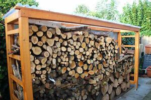 Brennholzregal  Massives Brennholzregal Kaminholzregal Unterstand Brennholz mit U ...