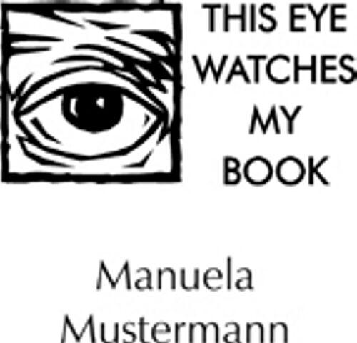 """Motiv /""""Auge/"""" STEMPEL Persönlicher Ex-Libris Handstempel"""