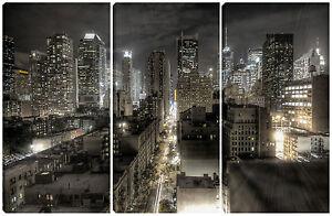 Quadro quadri moderno arredo casa salotto soggiorno 3 pz for Soggiorno new york
