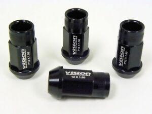 Length: 50mm Color : Black Black Luoshan Lin 20 PCS D1 Spec P1.5 Racing Wheel Nut